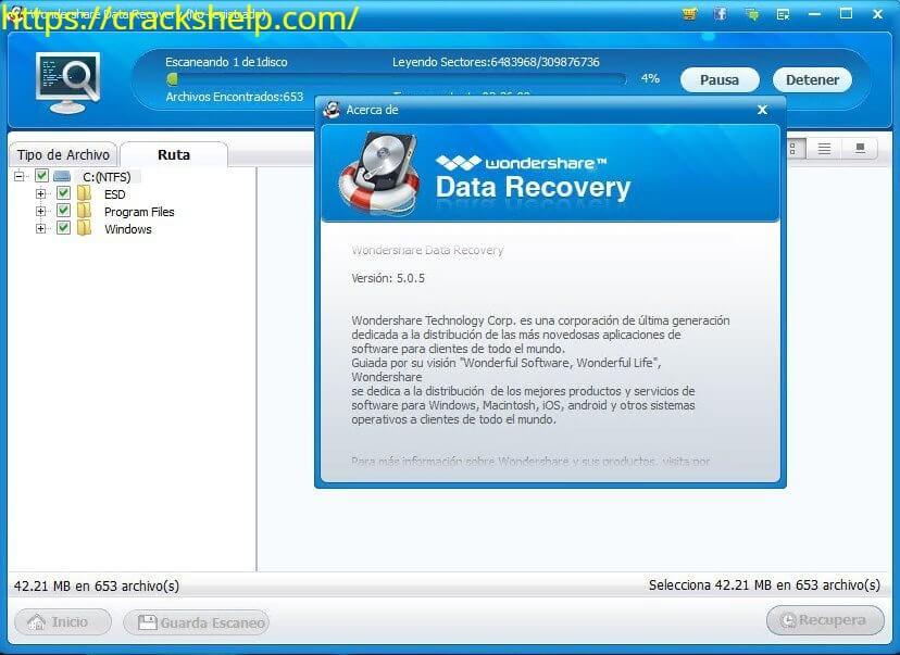 wondershare data recovery download